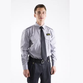 Väktare Uniformsskjorta Grå lång ärm, Safetysec
