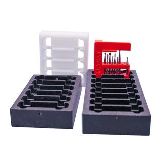 Disk- och lådställ för 4-8 BORRIX Mini - VITT Disk- och lådställ för 4 BORRIX Mini