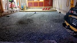 Markförberedelse gjuta golv i skola