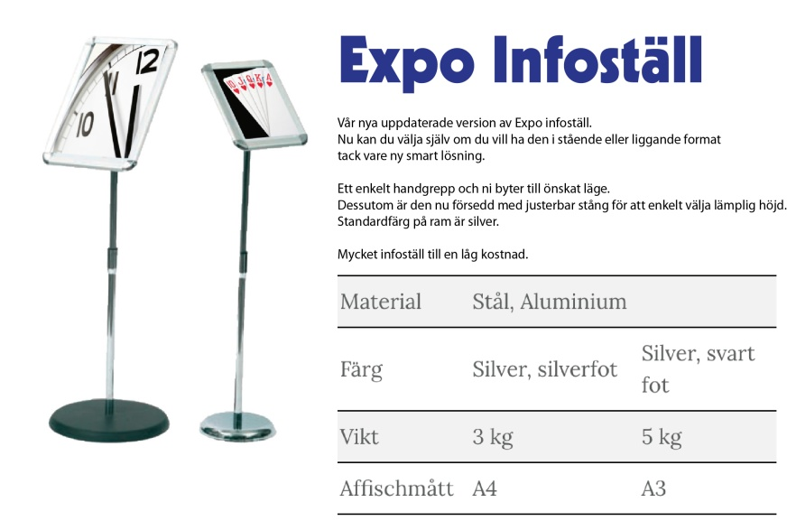 Expo infoställ