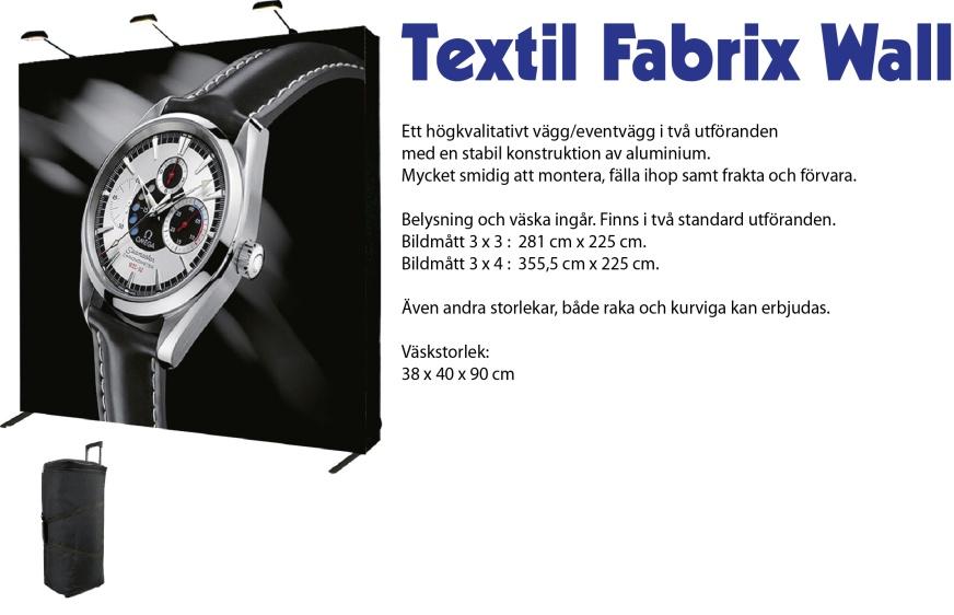 textil fabric wall popup vägg