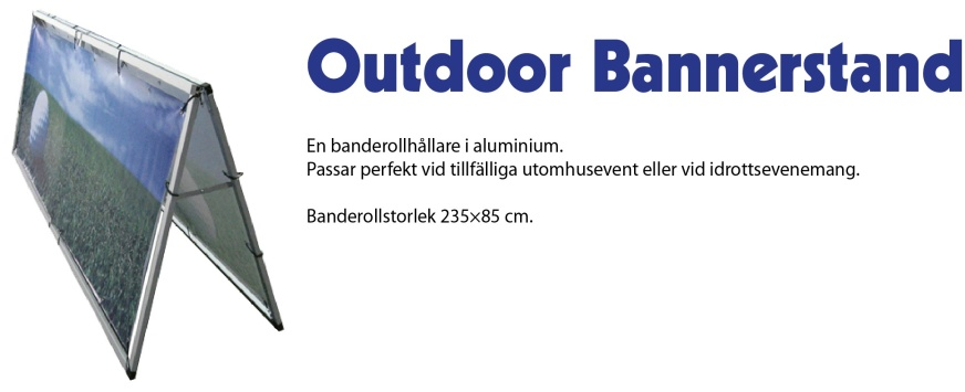 Outdoor Bannerstand