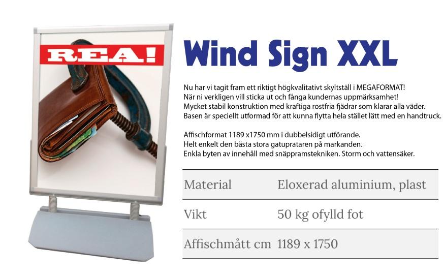 Gatupratare Wind sign XXL