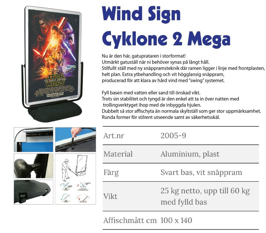 Gatupratare Wind Sign cyklone 2 mega