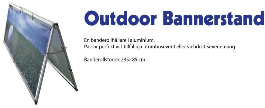 Outdoor Bannerstand