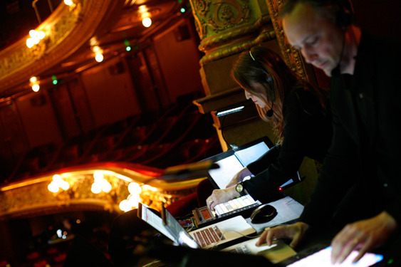 Grobe music perform live sound design with Ableton Live, Logic, iPads and Push controllers at the Royal Opera in Stockholm. Alexander Ekman's Midsommarnattsdrom.