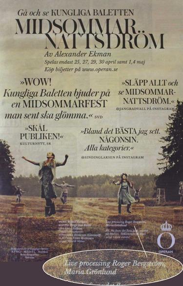 Live sound design and audio processing performance by Grobe music in Midsommarnattsdröm
