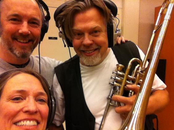 Grobe music recording gaming music with tuba, cimbasso and trombones