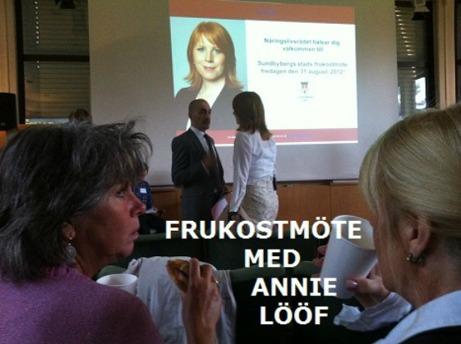 I bakgunden samtalar Näringsministern med  Sharif Pakzad, Kommunen. Bild: mittsundbyberg.se