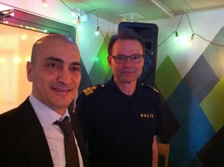 Kommunens Näringslivschef Sharif Pakzad, tv, och Jan Grankvist, Chef för adv Nord vid länets Bedrägerirotel. Foto mittsundbyberg.se