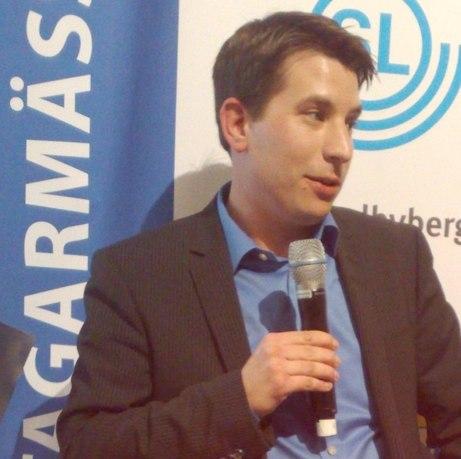 På Företagarmässan höll Kommunstyrelsens Ordförande Jonas Nygren ett mycket intressant anförande om vår stads utveckling.  Foto mittsundbyberg.se