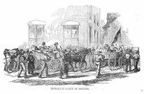 Första svenskarna kommer till Minnesota 1850. De hade seglat 3 á 4 månader för att komma till Amerika. Och sen skulle man vidare med tåg, häst och kärrra eller oxe och kärra.