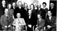 Hembygdsföreningens styrelse 1934. Österberg i mitten.