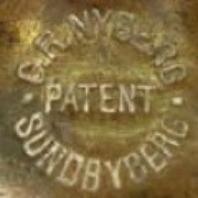 Patentstämpel i mässing