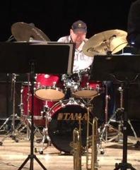 Mats Farell, trummor, och klubbordförande