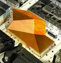 Föreslås ett stadshus med konsertsal(ar). Byggnaden bör uppföras i trä och glas och med solpaneler samt bör vara särskilt designad efter en nationell arkitekttävling.