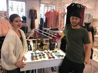 Jessica och Daniel i centrums butikspärla, Winston & Elle.