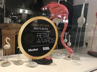 Winston & Elle nominerad  till finalist i klassen Årets Butik.