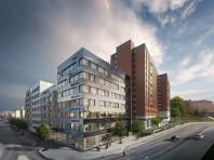 Punkten 12: Nya Kronan färdigbyggt 2021. Sturegatan 2-4. Skatteverket flyttar in. Bild från Vasakronan.