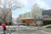 Punkten 3: Multisporthallen som kan komma att byggas på Idrottsplatsen. Bild från Kommunen.