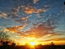 Solnedgång från Tornparken 22/11 -20, Bild: ac