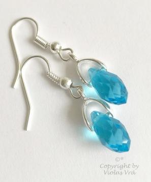 Örhängen Blue Drops