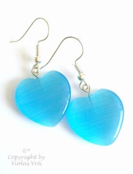 Örhängen Blue Hearts