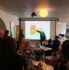 2019.05.09 Roligt att träffa många kollegor och höra Jais: Mats White och Jakob Peetre, berätta om SeaU projektet på NAiS, Nätverket Arkitekter i Skåne.