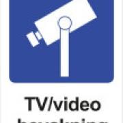 Skylt TV/Video bevakning