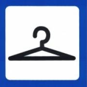 Skylt Garderob