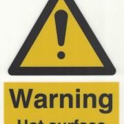 Skylt Warning Hot surface