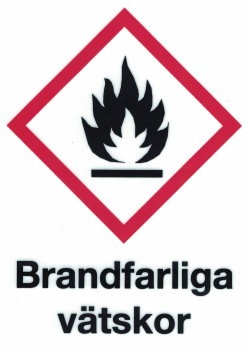 Varningsskylt Brandfarliga vätskor - 210 x 297 mm i aluminium