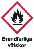 Varningsskylt Brandfarliga vätskor