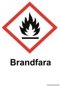 Varningsskylt Brandfara