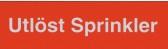 Skylt Utlöst Sprinkler