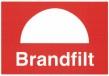 Skylt Brandfilt - 148 x 210 mm i plast