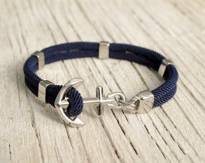 New Haven Anchor bracelet - Navy, 16.5 cm/6.5