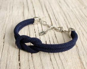PROVIDENCE Square Knot bracelet - Providence navy, one size
