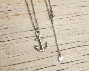 ANCHOR'S AWEIGH Anchor necklace - Silver - Anchor necklace, one size