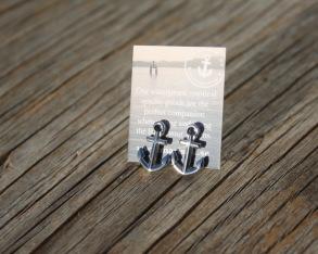 ANCHORED Anchor earrings - Silver -