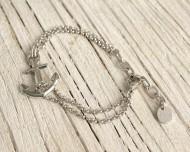 VINGA Ankararmband, silver