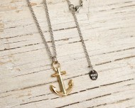 ANCHOR'S AWEIGH Anchor necklace - Silver/gold