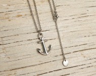 ANCHOR'S AWEIGH Anchor necklace - Silver