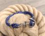 KEY WEST Anchor Bracelet - Blue Yacht - Herr M/L