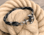 KEY WEST Anchor Bracelet - Carbon Fibre - Men M/L