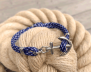 KEY WEST Anchor Bracelet - Blue Yacht - Men M/L