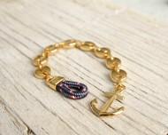 MARSTRAND Ankararmband - Guld