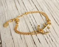 VINGA Anchor bracelet - Gold