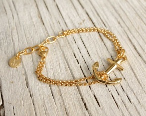 VINGA Ankararmband - Guld - Guldpl. stål, one size