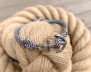 KEY WEST Anchor Bracelet - US Navy & White - Men M/L